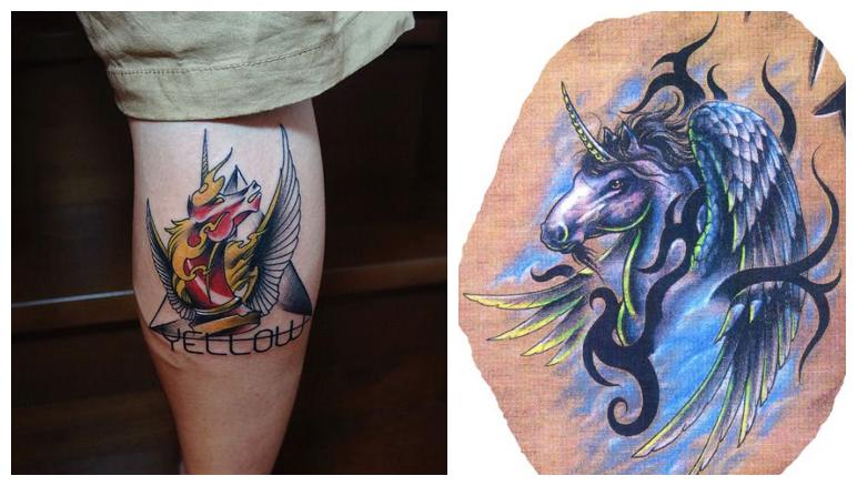 马纹身深入亲密肌肤图片